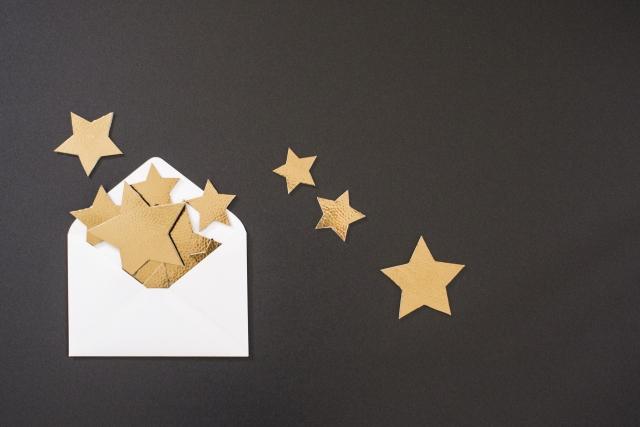 封筒から星