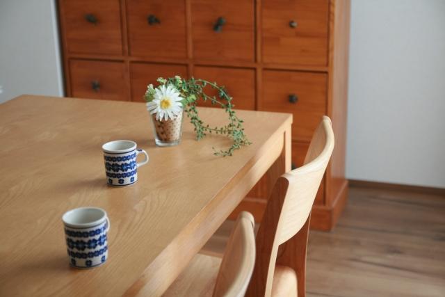 マグカップとお花
