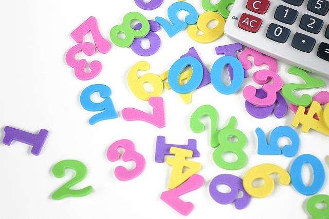 電卓と数字