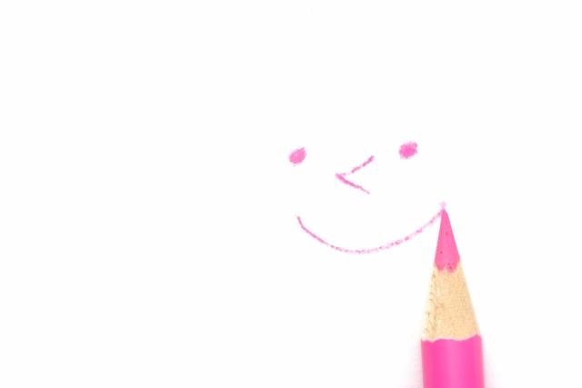 色鉛筆で描いたスマイル