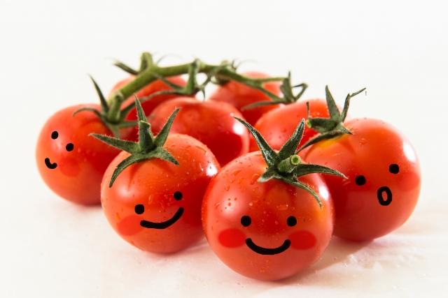 笑顔のプチトマト