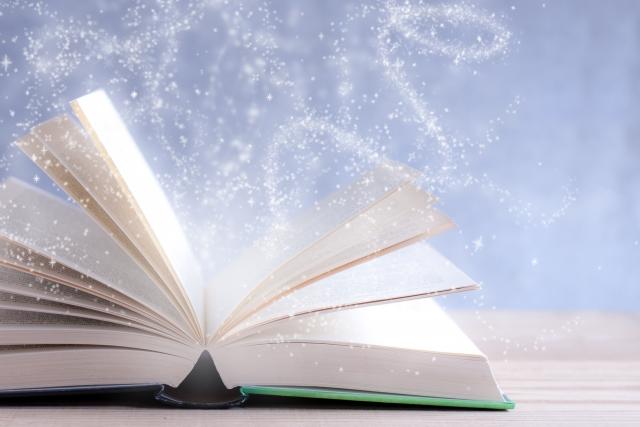 本から魔法の粉
