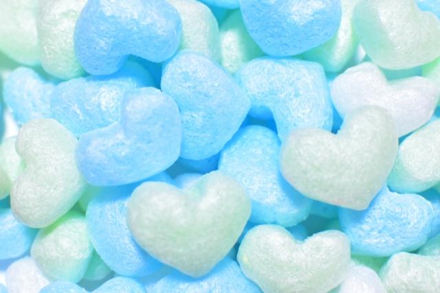 青と白のハート