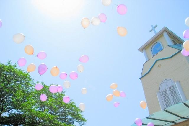 風船と教会