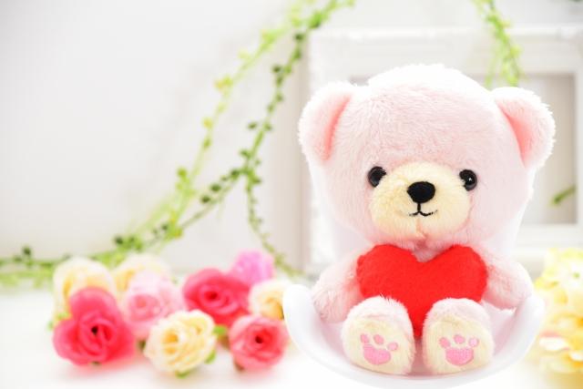 お花とクマ