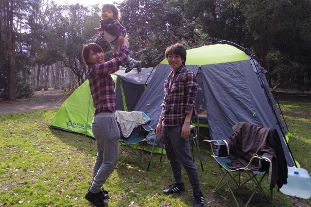 テントと家族